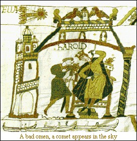 Halley's Comet in the Bayeaux Tapestry
