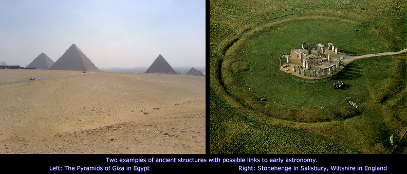 Pyramids of Giza and Stonehenge
