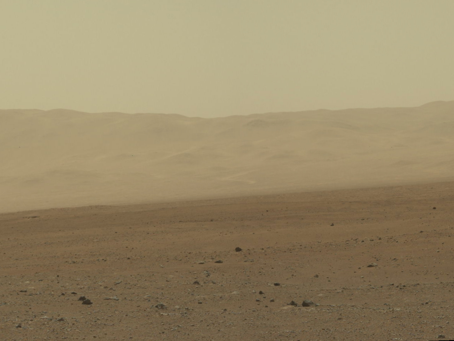 Landscape of Mars from Curiosity
