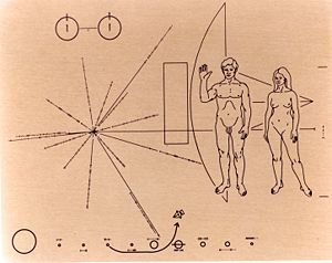 Plaque on Pioneer 10