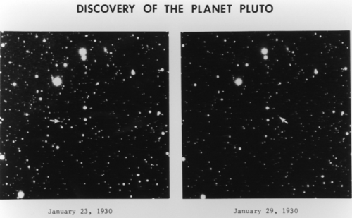 Plates showing Pluto when first discovered