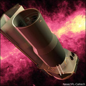 Spitzer space telescope (Artist's impression)