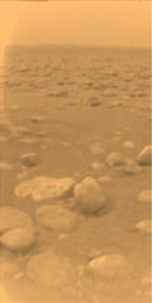 Surface of Titan from Huygens
